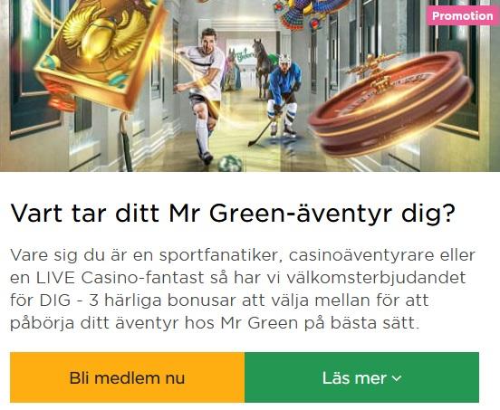 Bland nätcasinon är Mr Green en av de bästa!
