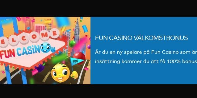 Hämta välkomstbonus nu på Fun Casino!