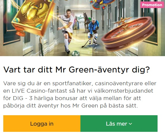 Delta i julkalendern 2019 på Mr Green Casino!
