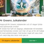 Julkalender 2019 hos Mr Green Casino!