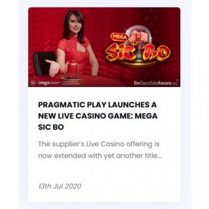 Mega Sic Bo avtäckt av Pragmatic Play!